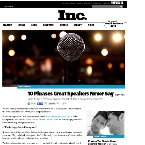 10 Phrases Great Speakers Never Say