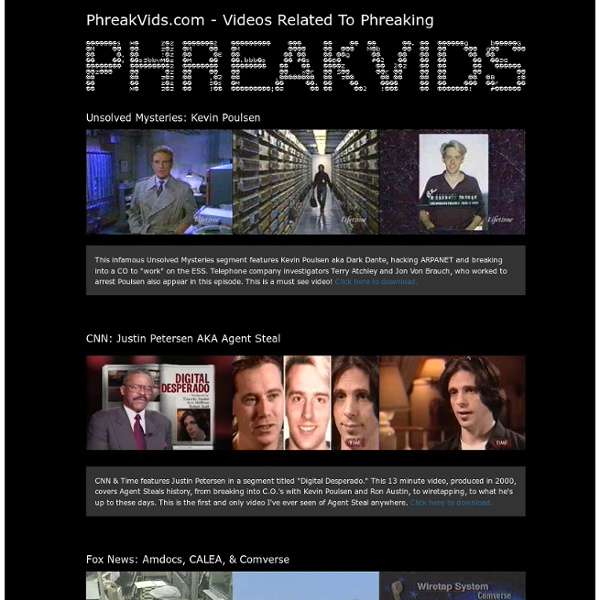 PhreakVids.com - Videos Related To Phreaking