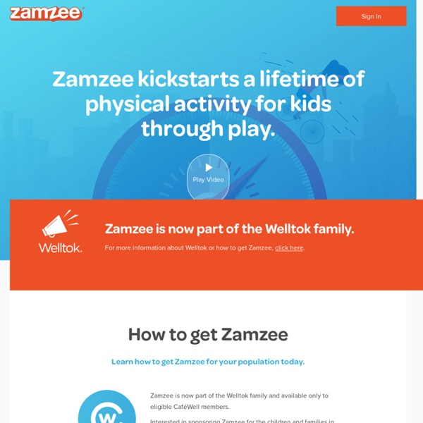 Zamzee: The Game That Gets Kids Moving