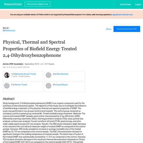 Human Energy Impact on Thermal Properties of DHBP