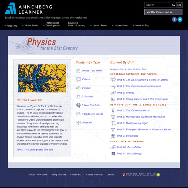 Physics for the 21st Century