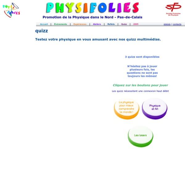 Physifolies - Quizz
