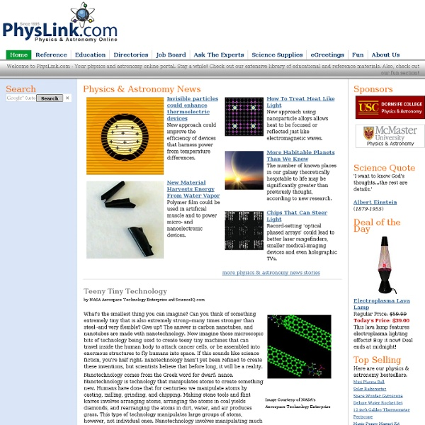 Physics and Astronomy Online Portal