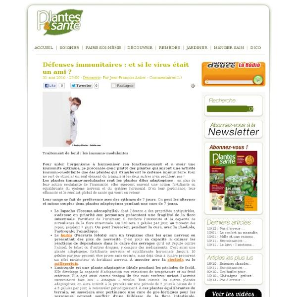 Plantes immunomodulantes