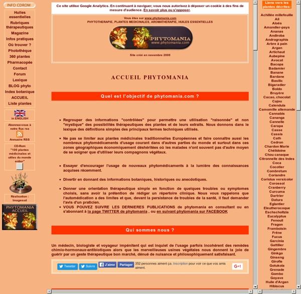 Phytothérapie : plantes médicinales, huiles essentielles, médecine naturelle, médecine douce, aromathérapie