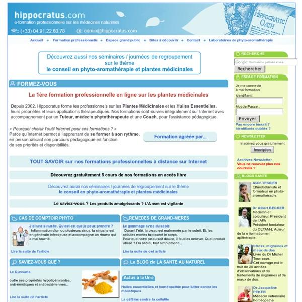 Hippocratus - formation en phytothérapie, plantes médicinales et aromathérapie