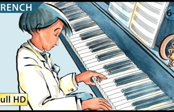 """The Little Pianist: Learn French with subtitles - Story for Children """"BookBox.com"""""""