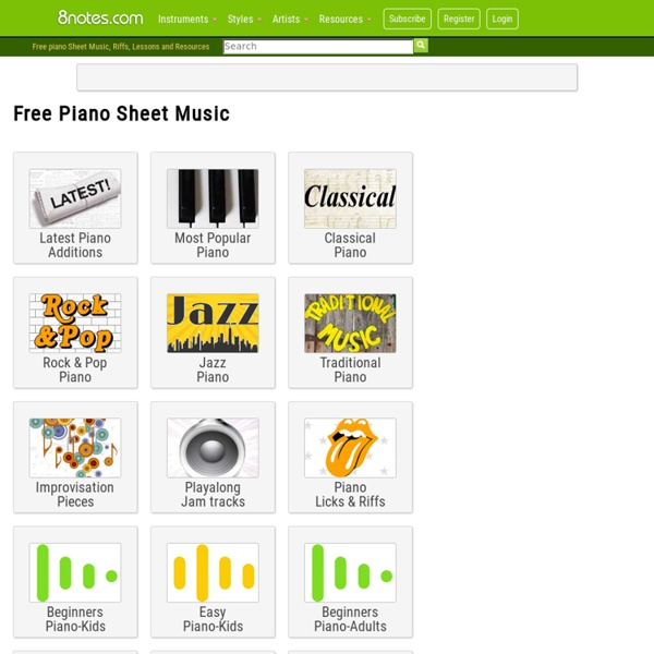 Free Piano Sheet Music, Lessons & Resources