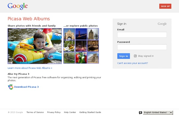 Picasa Web Albums: free photo sharing from Google