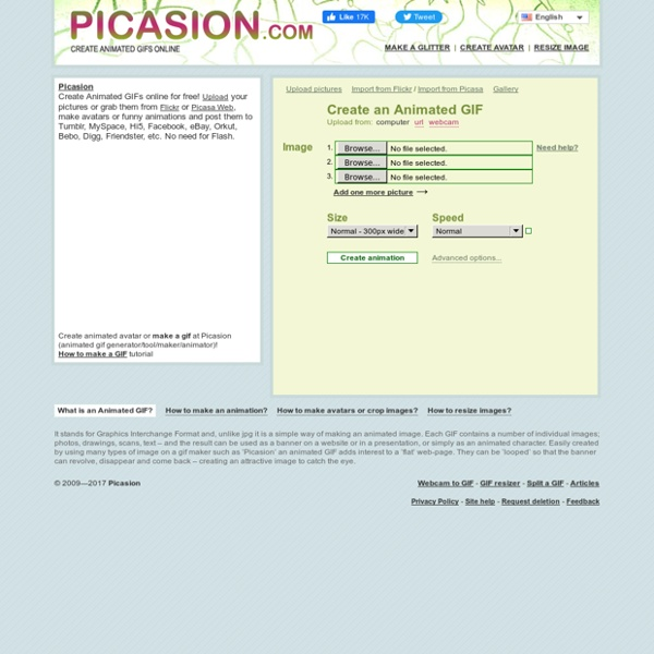 Picasion - Create GIF animations online - Make an Animated GIF