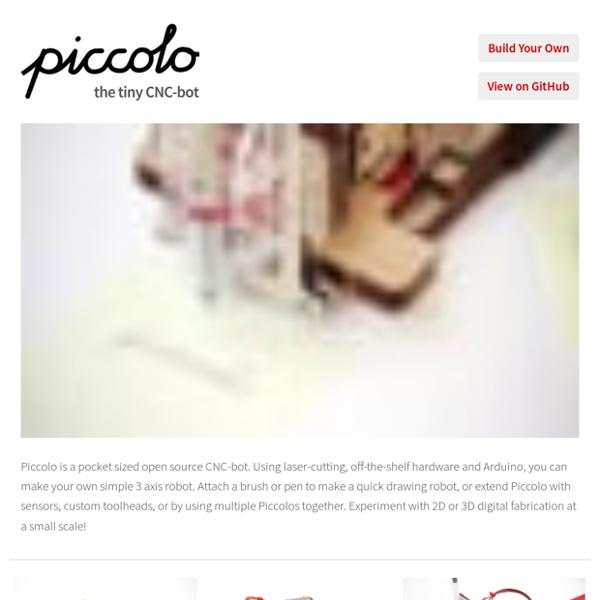 Piccolo, the tiny CNC-bot