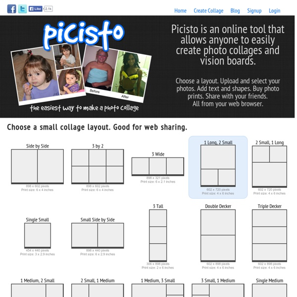 Picisto is the easiest way to make a collage photo or vision board.