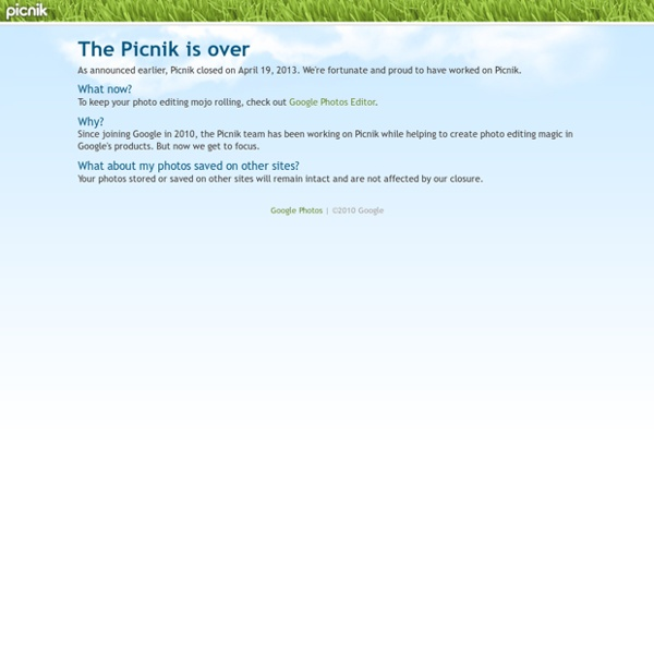 Picnik - Photo editing the easy way, online in your browser
