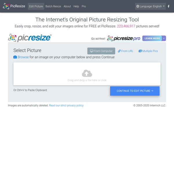 Free Online Picture Resizer - Crop and Resize photos, images, or pictures online for FREE!
