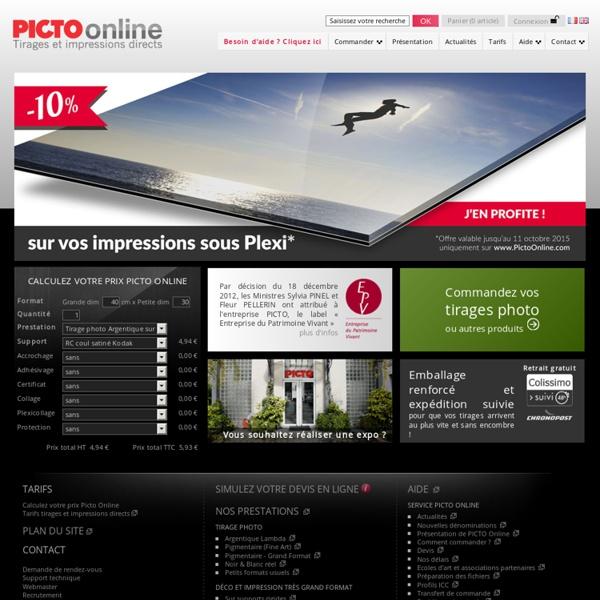 Picto Online – tirage photo en ligne