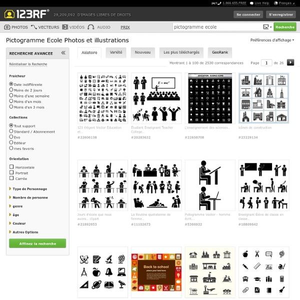 Pictogramme Ecole Banque D'Images, Photos, Illustrations Libre De Droits