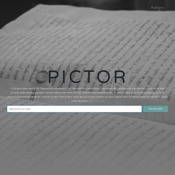 Pictor : générateur de mots enluminés
