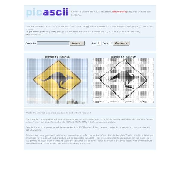 PICTURE TO ASCII CONVERT - PICASCII