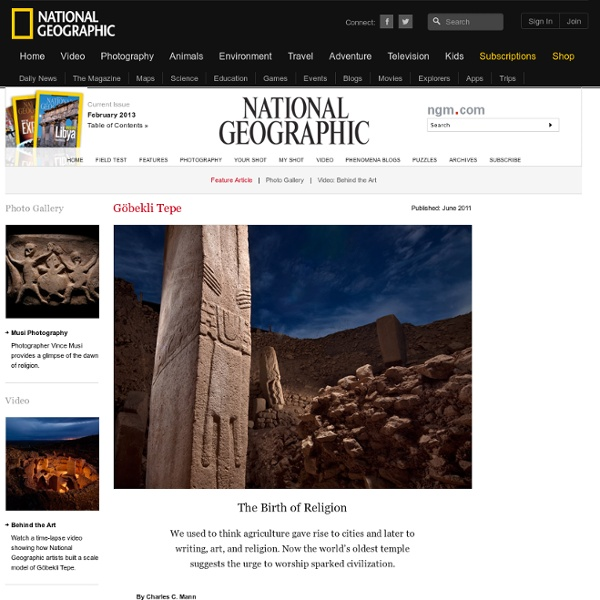 Göbekli Tepe, Turkey - the world's oldest temple