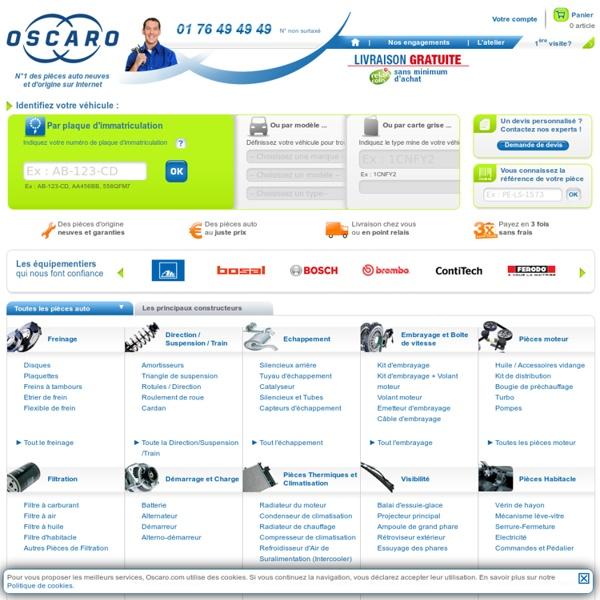 Oscaro - N°1 des pièces détachées auto