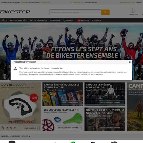 Achetez vos vélos en ligne pas cher chez BIKESTER