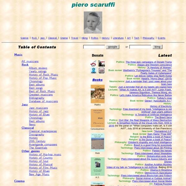 Piero Scaruffi's knowledge base