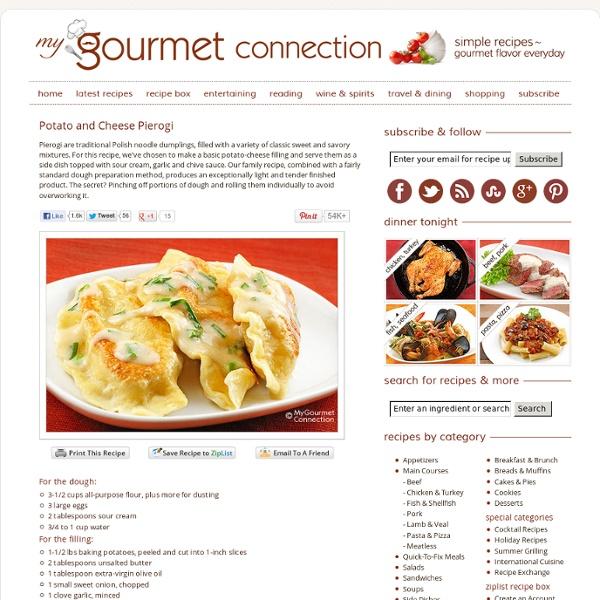 Potato and Cheese Pierogi Recipe