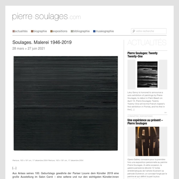 Le site documentaire sur Pierre Soulages