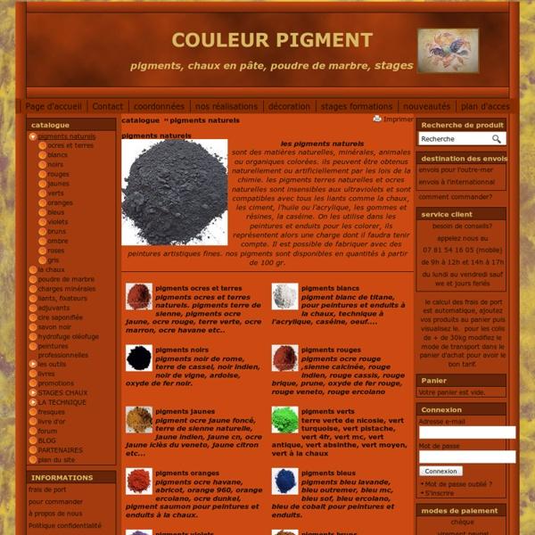 Pigments naturels - COULEUR PIGMENT
