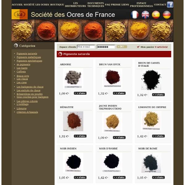 Pigments naturels - Société des Ocres de France
