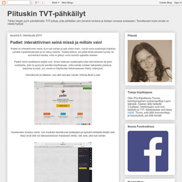 Piituskin TVT-pähkäilyt: Padlet: interaktiivinen seinä missä ja milloin vain!