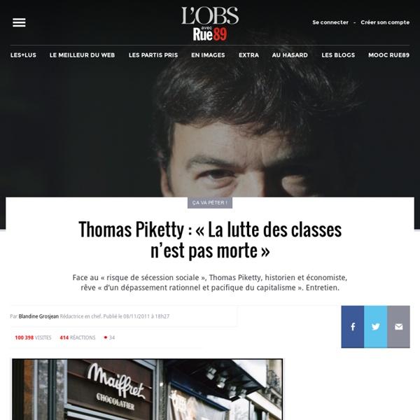 Thomas Piketty: «La lutte des classes n'est pas morte»