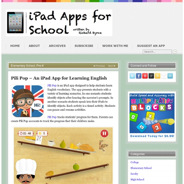 Pili Pop – An iPad App for Learning English