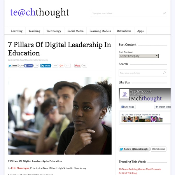 7 Pillars Of Digital Leadership In Education