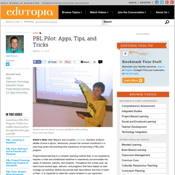 PBL: Apps, Tips, and Tricks