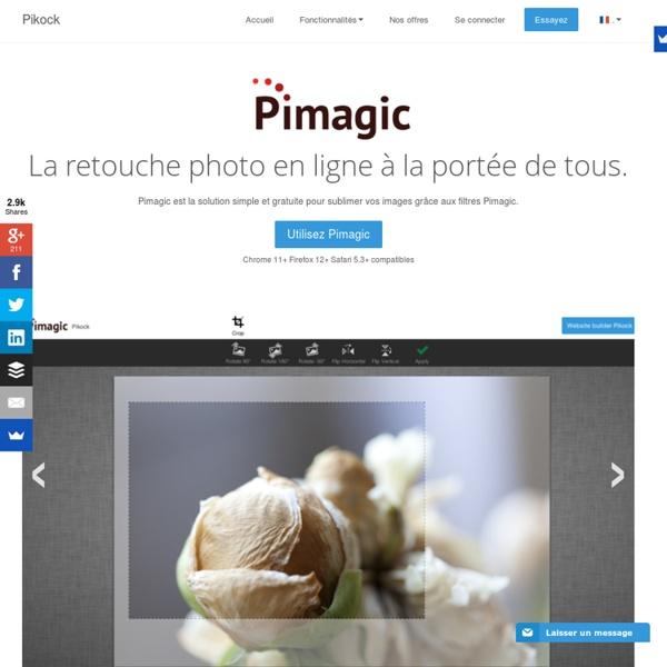 Pimagic, retouche photo en ligne à la porté de tous