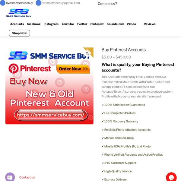 Buy real Pinterest Accounts Recovery Guaranty