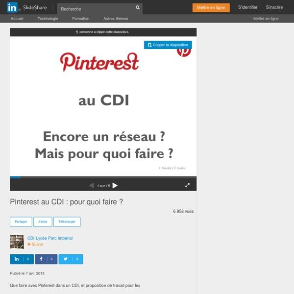 Pinterest au CDI : pour quoi faire ?