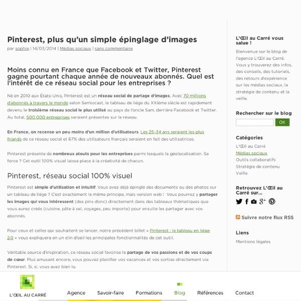 Pinterest, cas pratiques d'entreprises