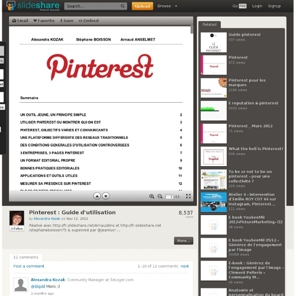 Pinterest : Guide d'utilisation