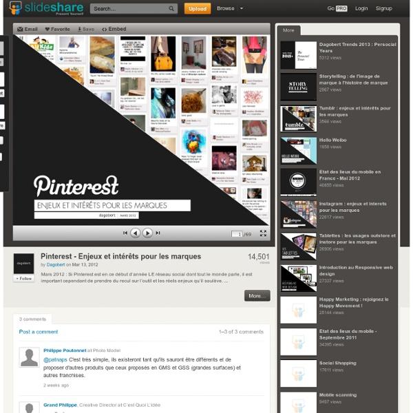 Pinterest - Enjeux et intérêts pour les marques