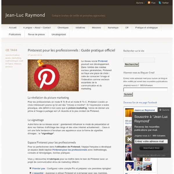 Pinterest pour les professionnels : Guide pratique officiel