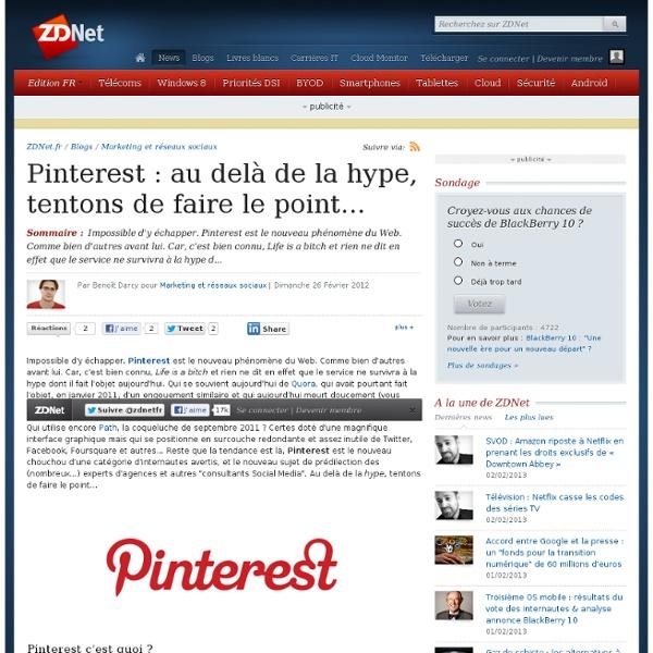 Pinterest : au delà de la hype, tentons de faire le point...