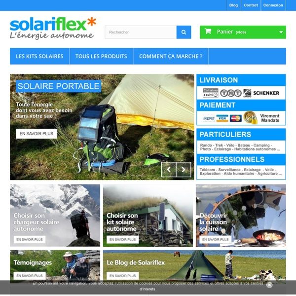 Le spécialiste de l'énergie solaire mobile et autonome - Solariflex