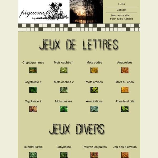 Piquemots - Jeux de lettres