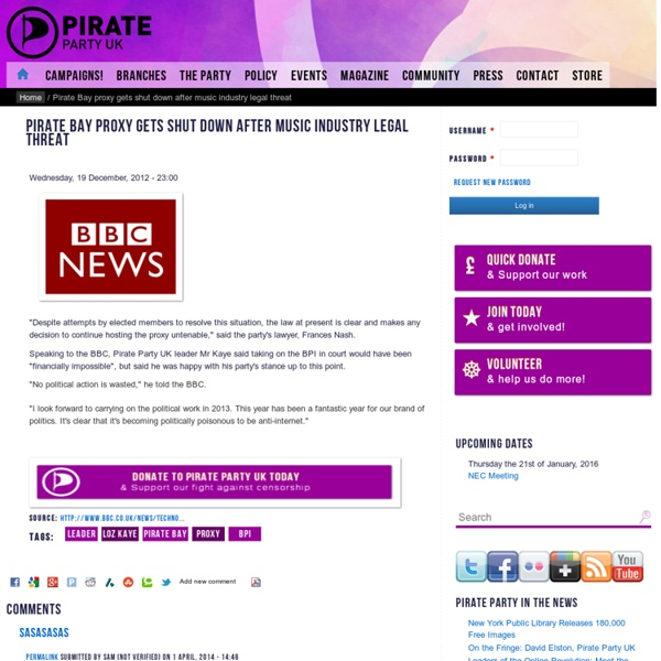 the pirate party proxy