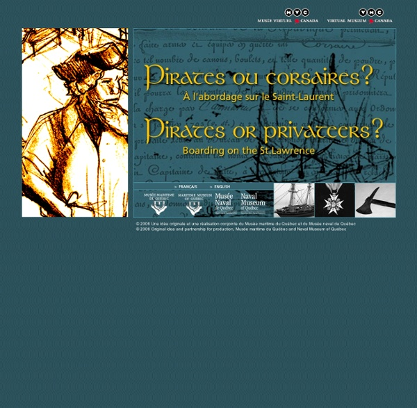 Pirates ou corsaires ? - Pirates or privateers?