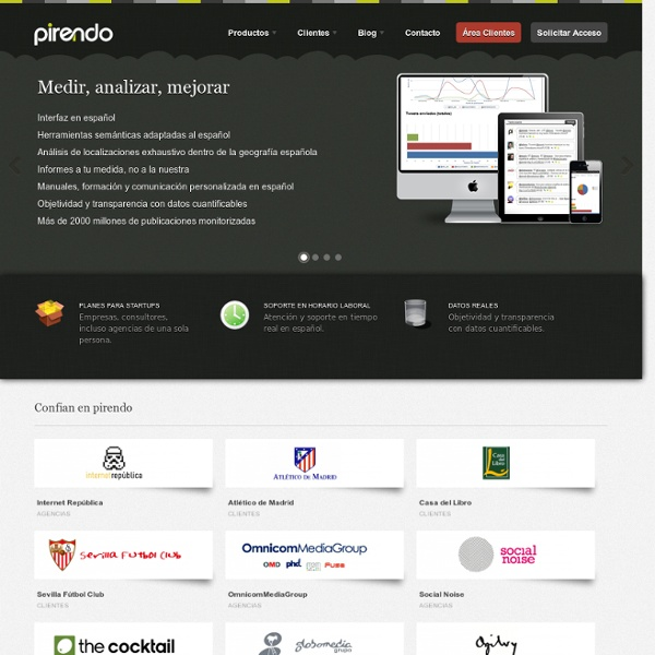 Pirendo - Inteligencia y analítica Social Media