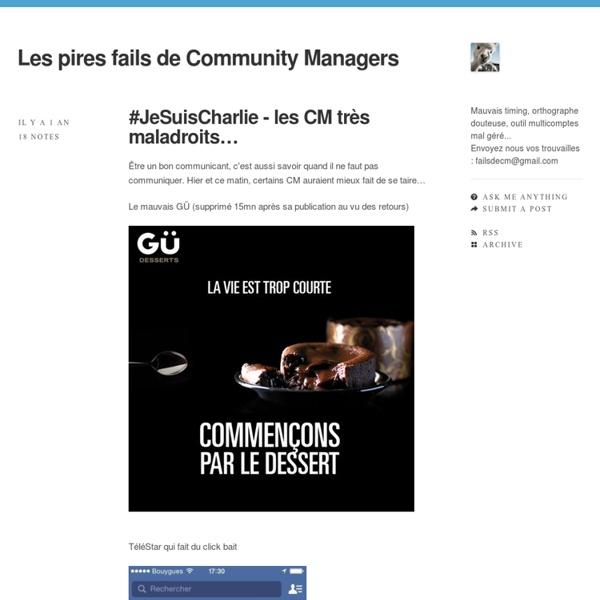 Les pires fails de Community Managers