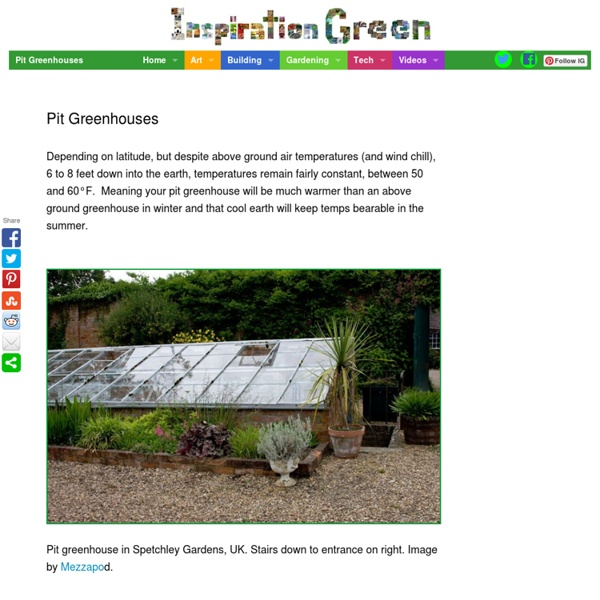 Pit Greenhouses